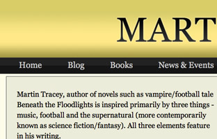 Martin Tracey Book Author Website